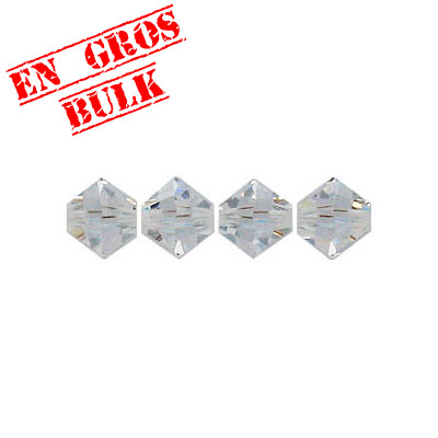 Crystal Swarovski 5328(5301), Faceted Bicone Bead. Crystal color. 6mm size