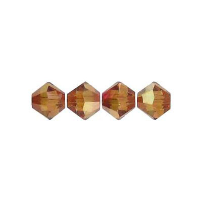 Crystal Swarovski 5328(5301), Faceted Bicone Bead. Crystal Copper coating. 6mm size. Sold per pack of 144. (SKU# 5328/6M