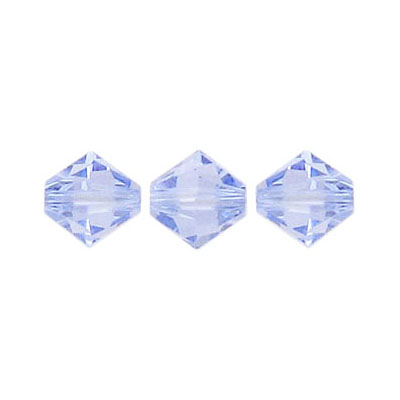 Crystal Swarovski 5328(5301), Faceted Bicone Bead. Provence Lavender color. 8mm size