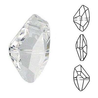 Crystal Swarovski 5556, Galactic Bead. Crystal color. 13x24mm size