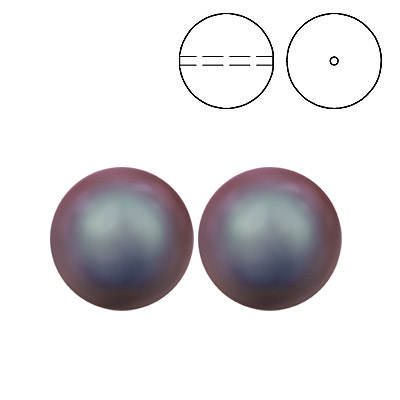 Swarovski pearls 5810, drilled, 12mm size, iridescent red