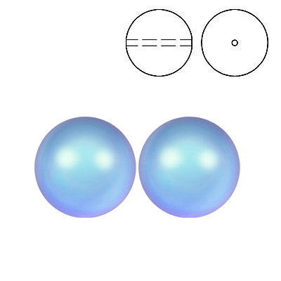 Swarovski pearls 5810, drilled, 12mm size, crystal iridescent light blue