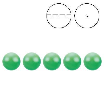 Swarovski pearls 5810, drilled, crystal neon green pearl, 4mm size