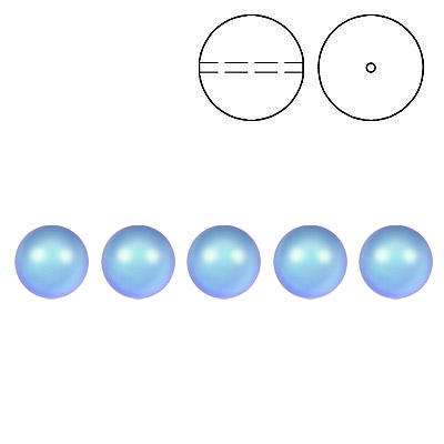 Swarovski pearls 5810, drilled, 4mm size, crystal iridescent light blue