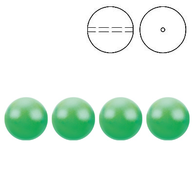Swarovski pearls 5810, drilled, crystal neon green pearl, 6mm size