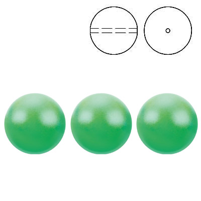 Swarovski pearls 5810, drilled, crystal neon green pearl, 8mm size