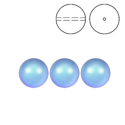 Swarovski pearls 5810, drilled, 8mm size, crystal iridescent light blue