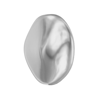 Swarovski Crystal Baroque Coin Pearl 5842, drilled, 10mm size, light grey