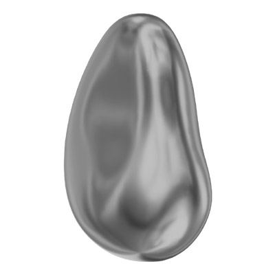 Swarovski Crystal Baroque Drop Pearl 5843, drilled, 16mm size, dark grey