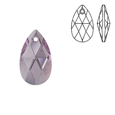 Crystal Swarovski 6106, Pear-shaped Pendant. Iris color. 16mm size.