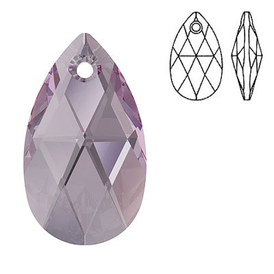 Crystal Swarovski 6106, Pear-shaped Pendant. Iris color. 28mm size.
