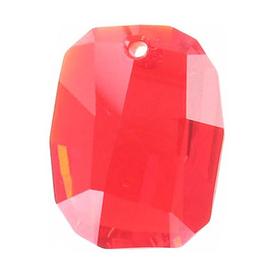 Crystal Swarovski 6685, Graphic Pendant. Light Siam color. 28mm size