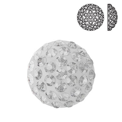 Crystal Swarovski 86601, Cabochon Pave. Crystal color. 10mm