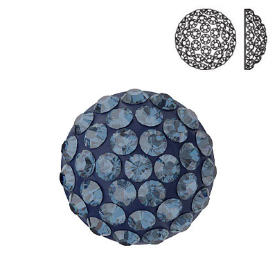 Crystal Swarovski 86601, Cabochon Pave. Montana color. 10mm