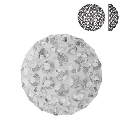 Crystal Swarovski 86601, Cabochon Pave. Crystal color. 12mm