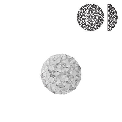 Crystal Swarovski 86601, Cabochon Pave. Crystal color. 6mm