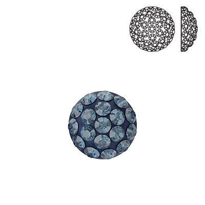 Crystal Swarovski 86601, Cabochon Pave. Montana color. 6mm