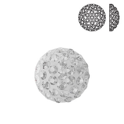 Crystal Swarovski 86601, Cabochon Pave. Crystal color. 8mm