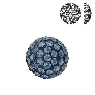 Crystal Swarovski 86601, Cabochon Pave. Montana color. 8mm