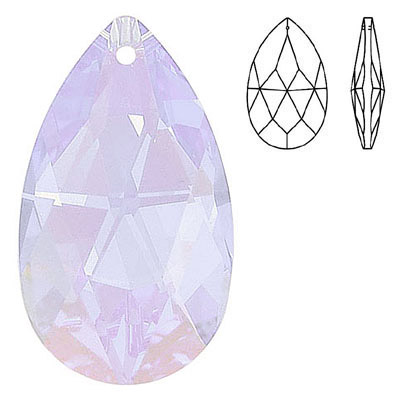 Crystal Swarovski 8721, Pear Shape Pendant-Chandelier. Violet color. 38mm size.