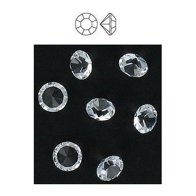 Maxima machine cut chaton rose, ss29 size, crystal, unfoiled