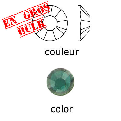 Flat back first quality crystals, ss20 size, emerald. Made in Austria