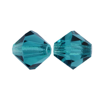 Preciosa machine cut glass beads, rondelle, 4x4mm, indicolite