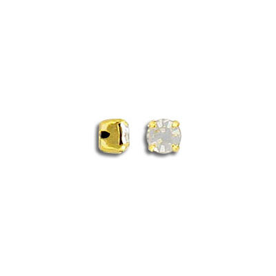 Mounted jewel, setting, ss16 size, crystal, gold plate