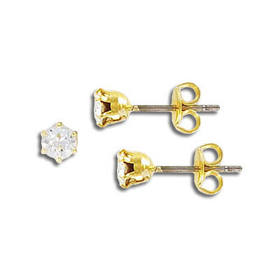 Swarovski earrings, ss15, crystal, gold plate