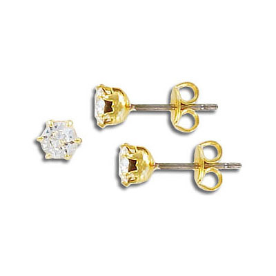 Swarovski earrings, ss19, crystal, gold plate