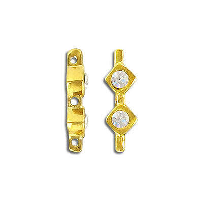Spacer, gold/crystal