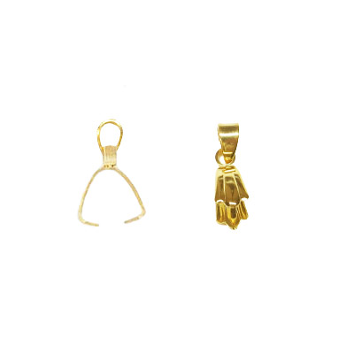 Bail, 19x2mm, stainless steel, gold plate