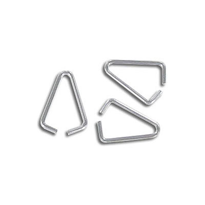 Bail, 10x6mm, triangle, 0.6mm wire thickness, stainless steel