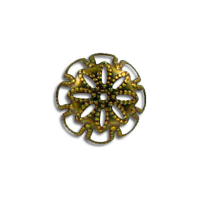 Bead cap antique brass