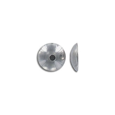 Bead cap, for 12mm beads, stainless steel, 304L