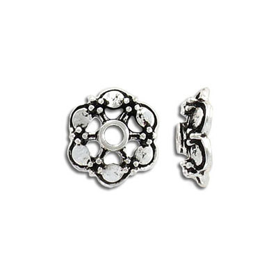 Bead cap, 16mm, antique silver