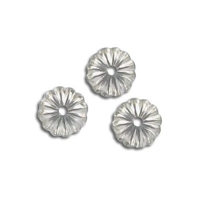 Bead cap, 9mm, stainless steel, grade 316l