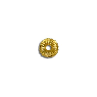 Bead cap brass yellow