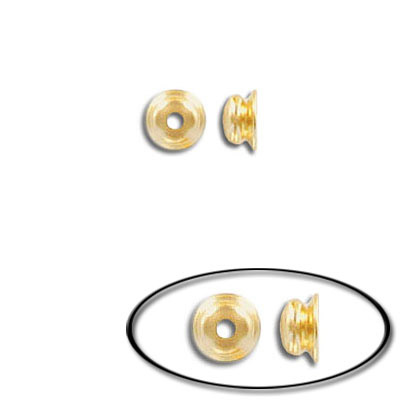 Bead cap, for 6, 8 and 10mm beads, gold plate