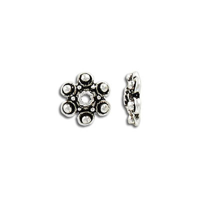Bead cap, 12mm, antique silver