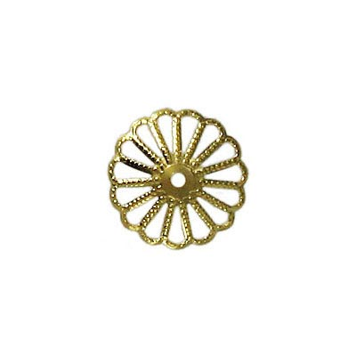 Extra large bead cap gold plate