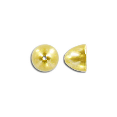Bead cap, 8x10mm, gold plate