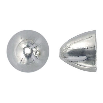 Bead cap large 14x15mm (12mm id), pewter