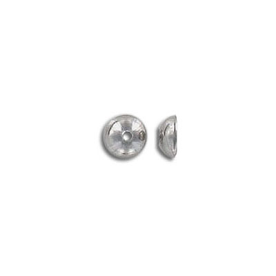Bead cap, for 6mm beads, stainless steel, 304L