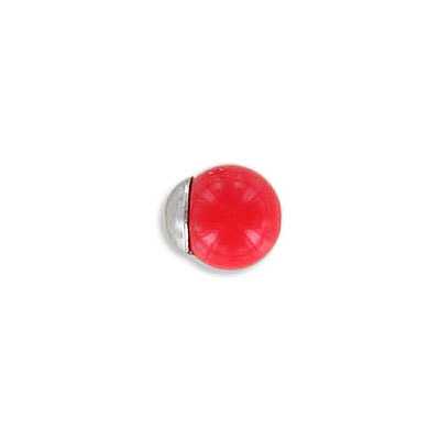 Beads cap, for 8mm beads, stainless steel, 304L