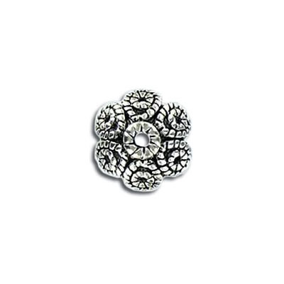 Bead cap antique silver plate