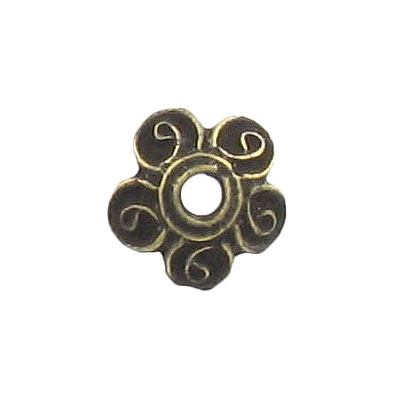 Bead cap 12mm antique brass (mbm219)