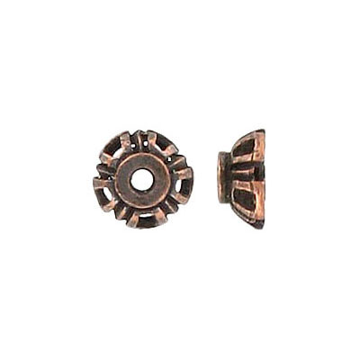 Bead cap antique copper