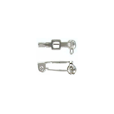 Bar pin with swivel closure 13mm (1/2inch) nickel plate