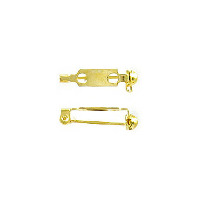 Bar pin with swivel closure 19mm (3/4inch) gold plate